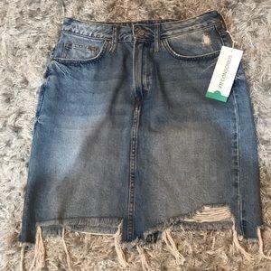 H & M denim skirt
